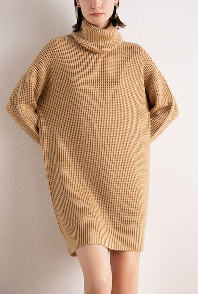 Loose Turtleneck Sweater Dress