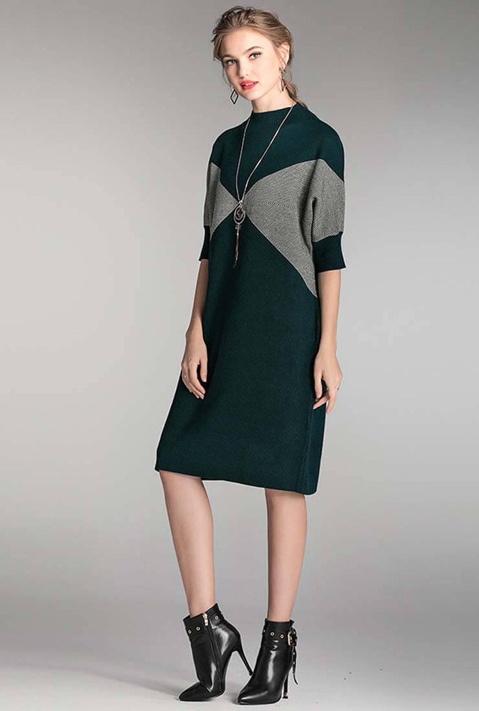 Loose Mid-length Midi Sweater Dress