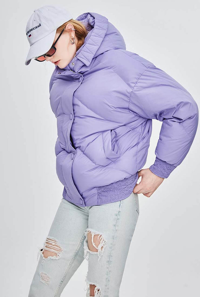 Multicolor Hooded Thicken Down Bubble Jacket