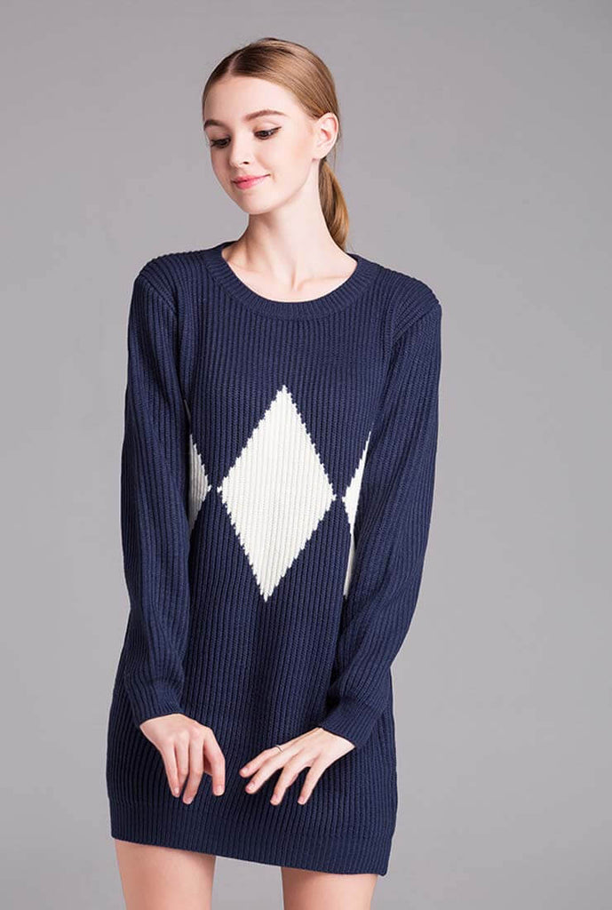 Plus Size Thicken Knit Sweater Dress