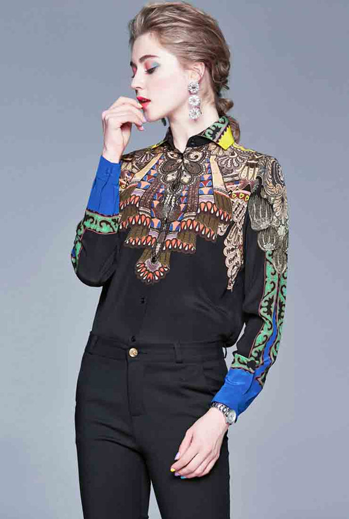 Printed Slim Long Sleeve Shirt