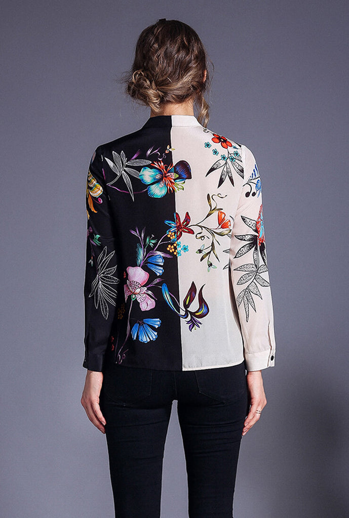 Printed Slim Long Sleeved Versatile Shirt