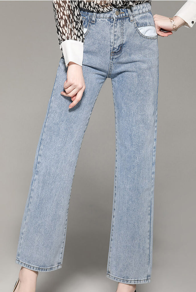 Retro Straight Wide Pants Jeans