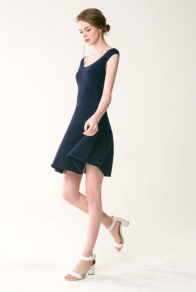 Seamless One-shoulder Sweater Dress