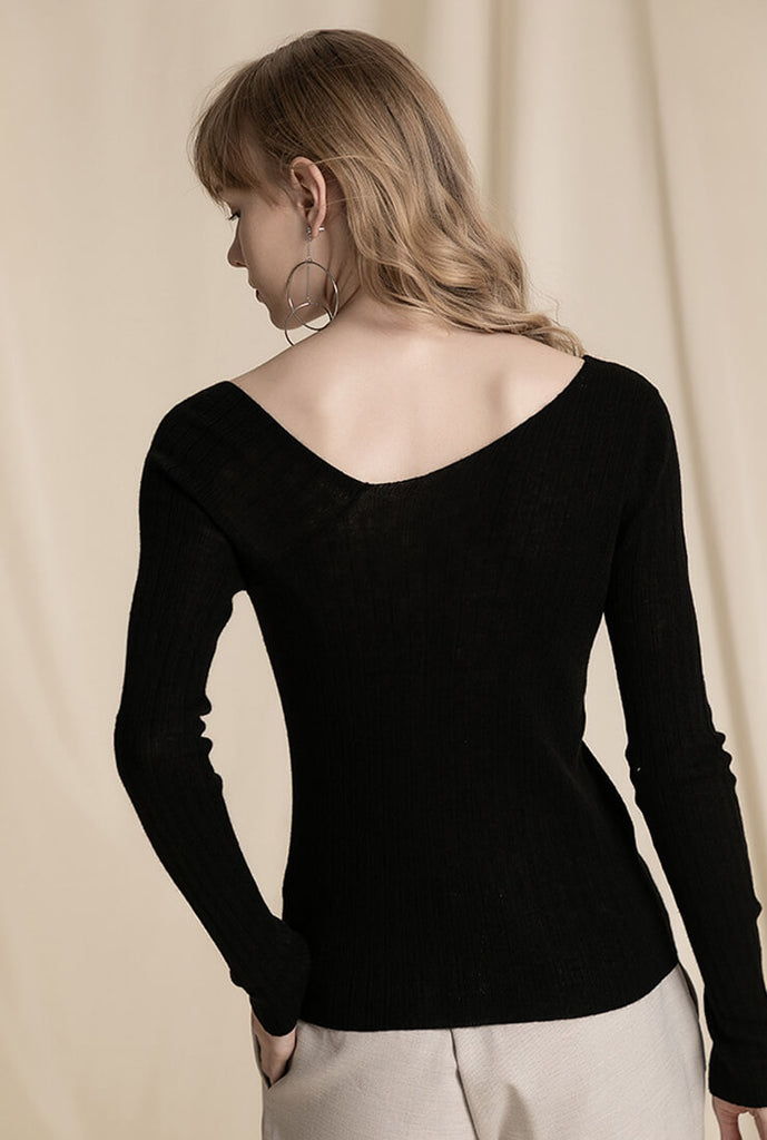Sexy Sloping Shoulder Bottoming Blouse