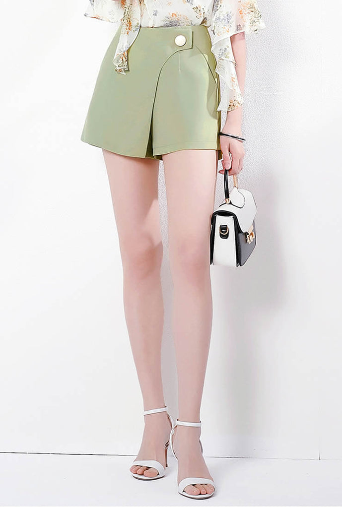 Simple Irregular High Waist Shorts