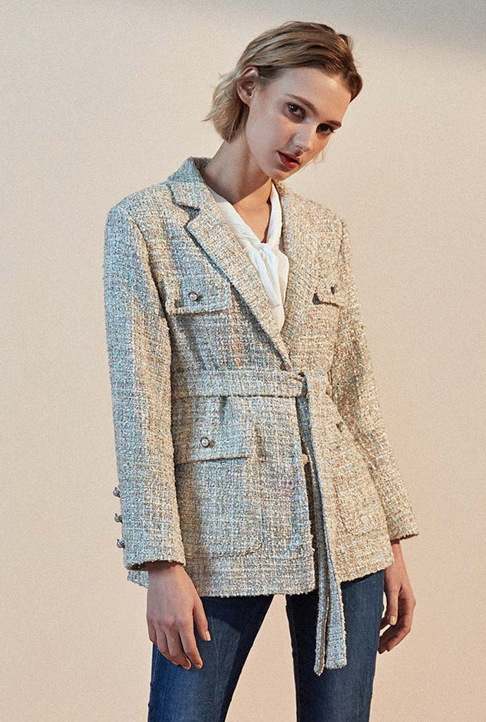 Tweed Short Blazer Jacket