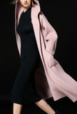 Double-faced Cashmere & Wool Hooded Long Coat
