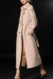 Double-breasted Reversible Cashmere Long Overcoat