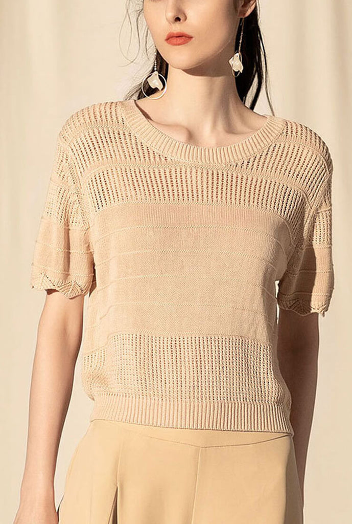 Vintage Openwork Loose Pullover Sweater