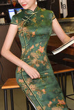 Vintage Side Slit Oriental Cheongsam Prom Dress