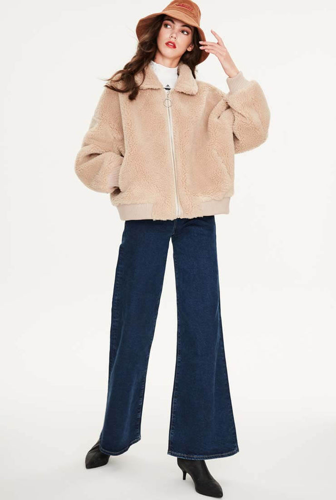 Wool Short Warm Teddy Bear Jacket