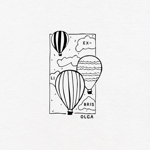 aerostatic balloon exlibris custom
