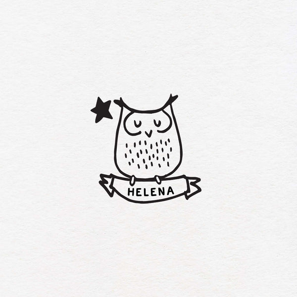 owl exlibris custom for kids