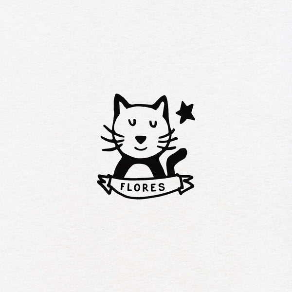 Cat exlibris custom for kids