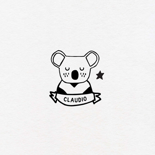 koala exlibris custom for kids