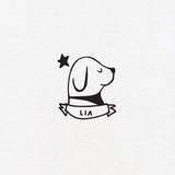 dog exlibris custom for kids