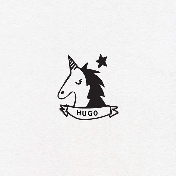 unicorn custom exlibris for kids