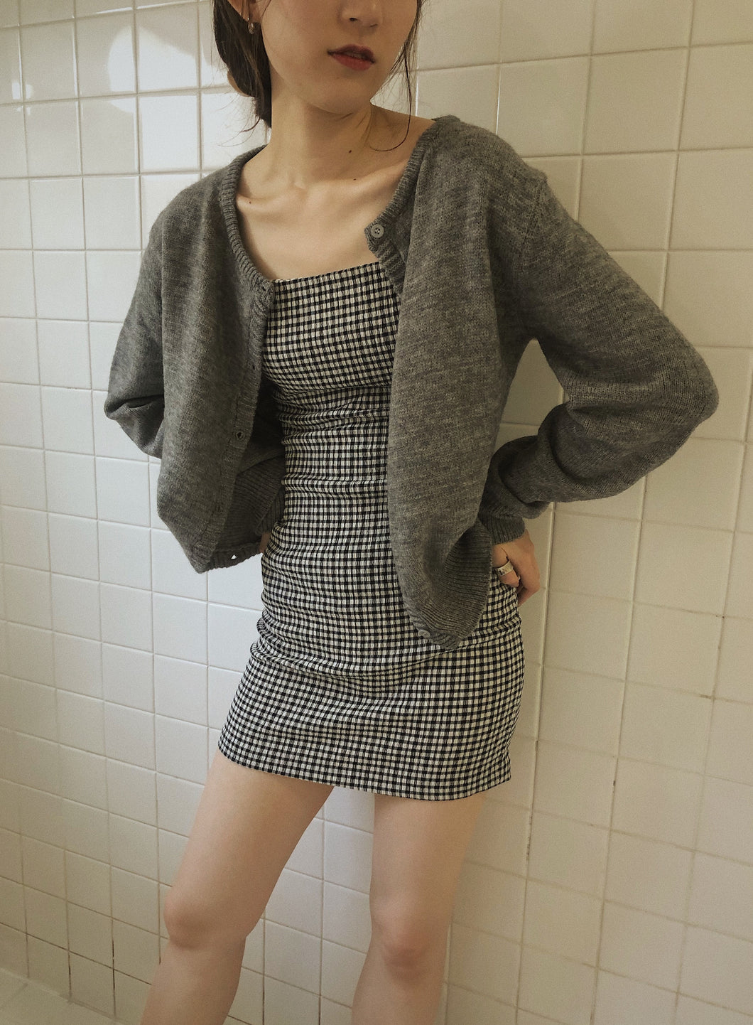 simple knit cardigan
