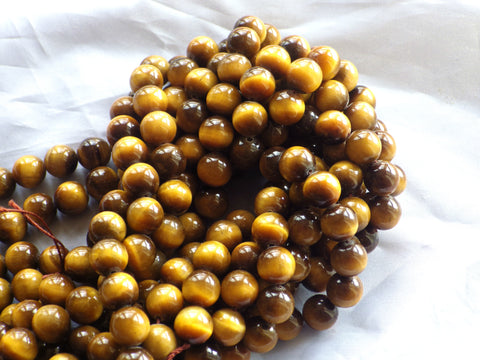 Tiger Eye Beads - 10mm - A Grade