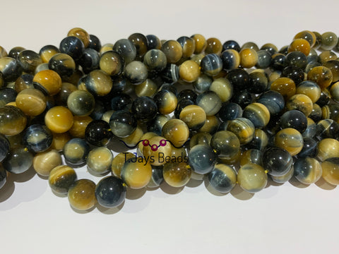 10mm Dyed Blue Tiger Eye Beads