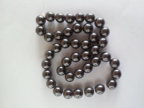 Magnetic Hematite Round Beads - 8mm
