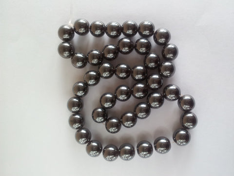 Magnetic Hematite Round Beads - 6mm