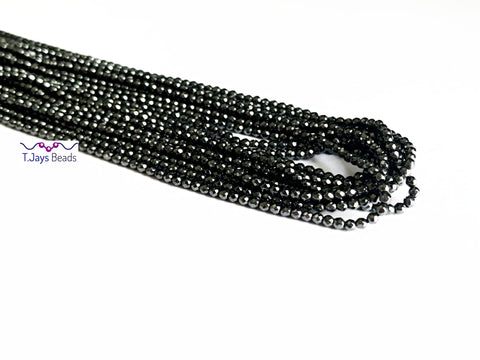 2mm Faceted Hematite Beads