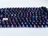 8mm Night Sky Colour Tiger Eye Beads