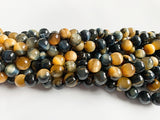 8mm Dyed Blue Tiger Eye Beads
