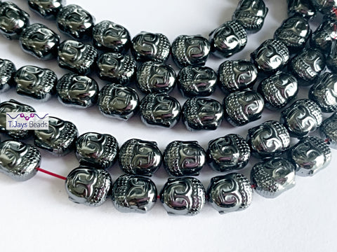 Hematite Buddha Head Beads (10mm)