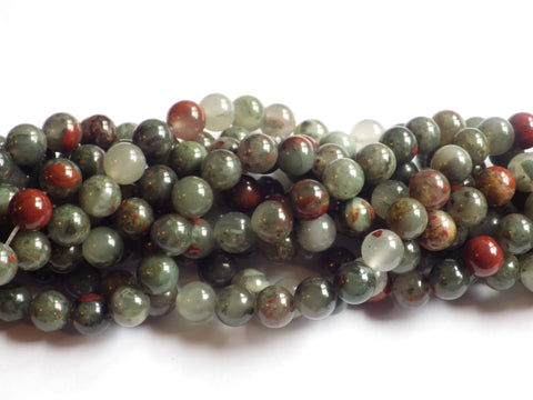 8mm African Bloodstone Jasper Round Beads