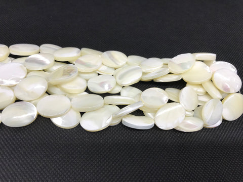 Natural spiral shell oval beads