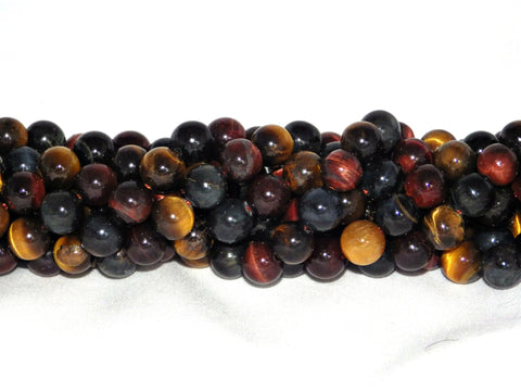 Mixed Tiger Eye Beads - 8mm