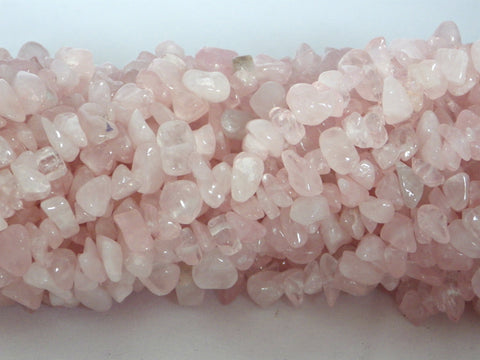 Rose Quartz Chip Beads