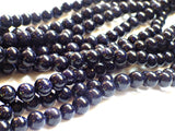 Blue Goldstone Beads - 8mm