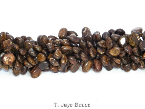 Bronzite Drop Style Chip Beads - 10x12mm