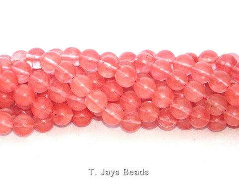 Cherry Quartz Round Beads - 10mm