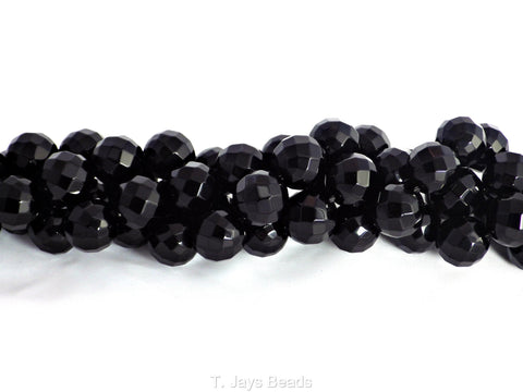 Faceted Black Onyx Beads - 10mm