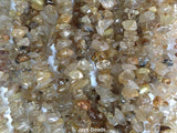 Golden Rutilated Quartz Chip Beads