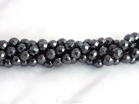 Faceted Hematite Beads - 64 Facets - 6mm