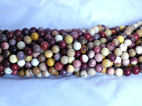 8mm Mookaite round beads