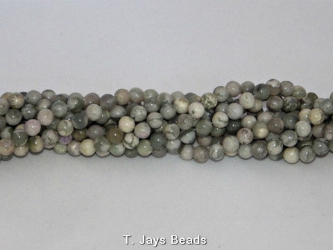 Peace Jade Round Beads - 6mm