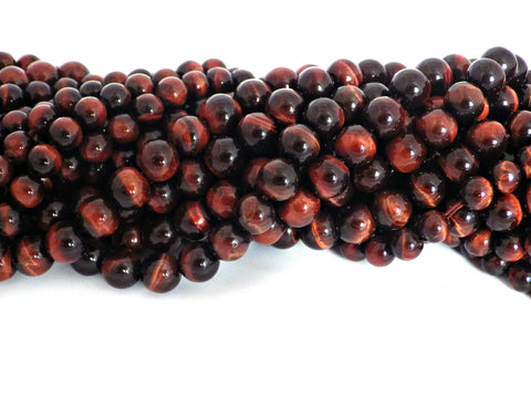 8mm Red Tiger Eye Beads