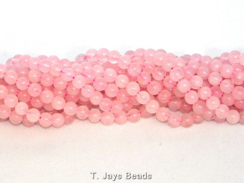 Rose Quartz Round Beads - B Grade - 6mm
