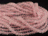 Rose Quartz Rondelle Beads - 5 x 8mm