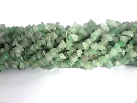 Green Aventurine Chip Beads 33""