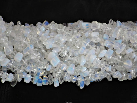 Synthetic Opal Quartz Chip Beads