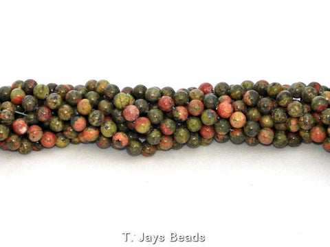 Unakite Beads - 6mm