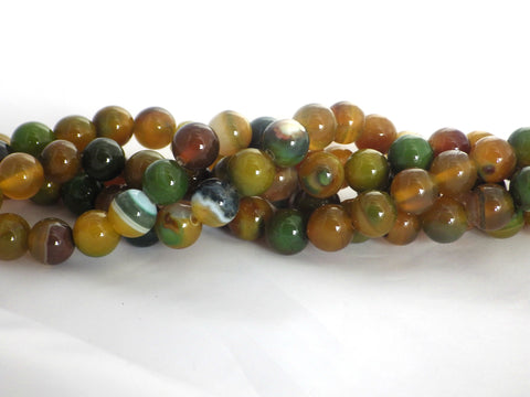 Yellow Green Agate Beads - 10mm